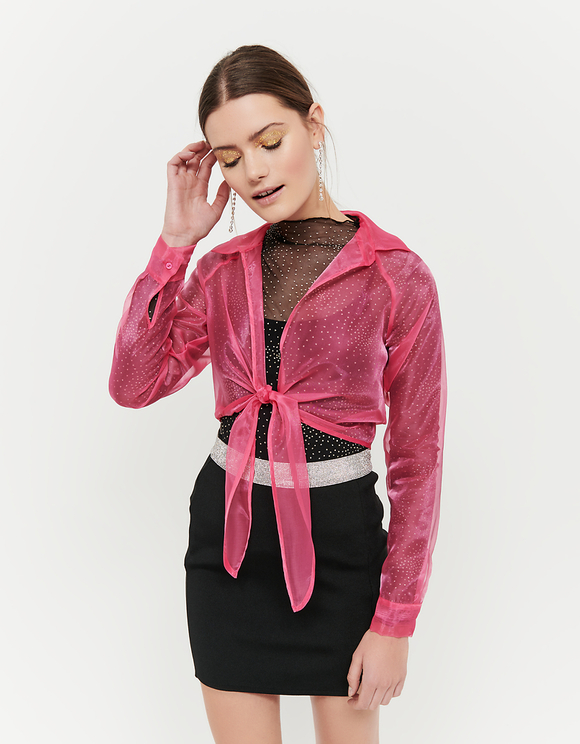 Pinkes Hemd aus Organza