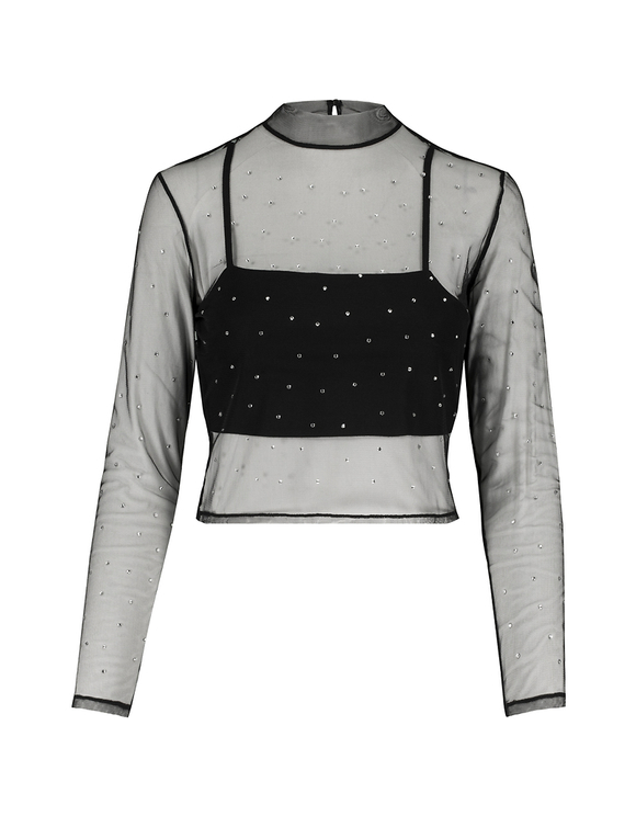 2-in-1 Transparent Blouse with Bralet