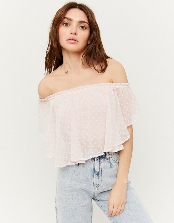 Light Pink Top with Ruffles