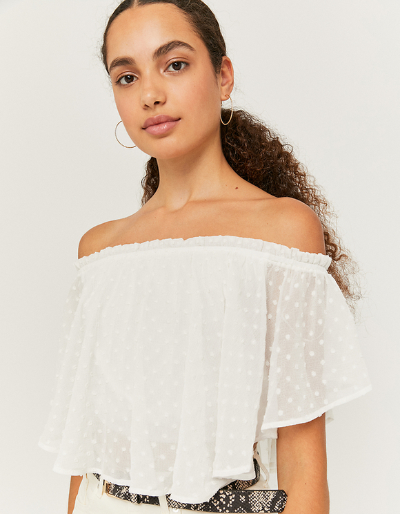White Top with Ruffles