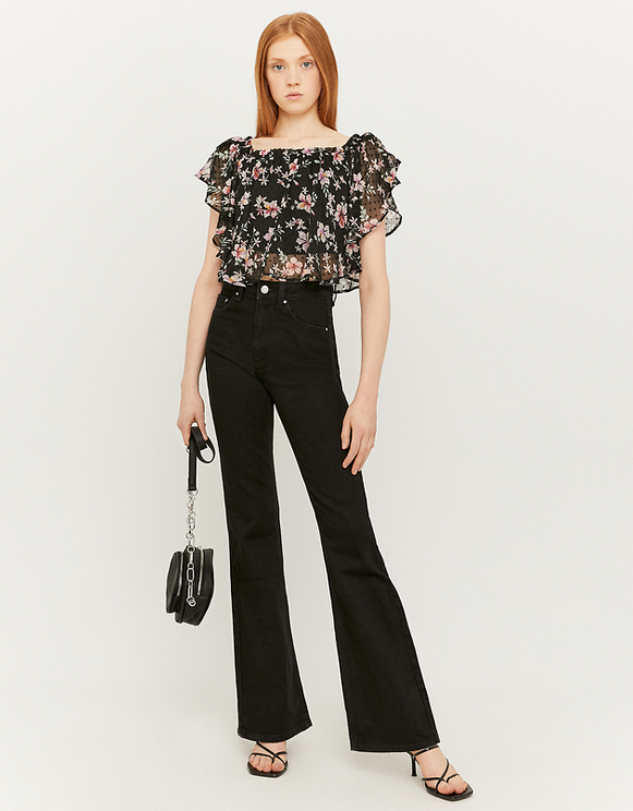 Floral Top with Ruffles