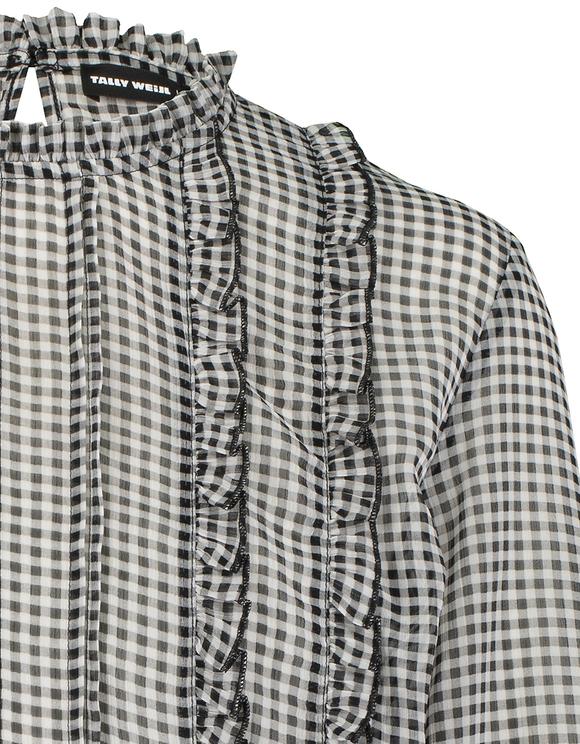 Hemd mit Aufdruck und Knoten