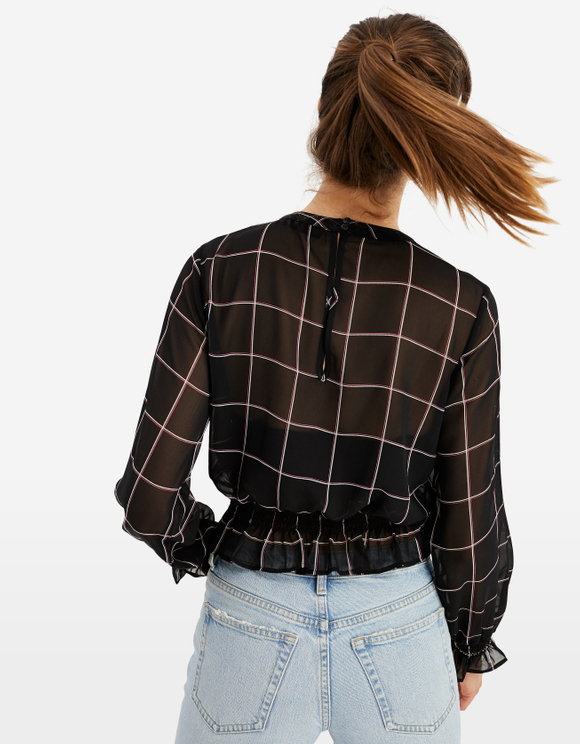 Checked Transparent Blouse