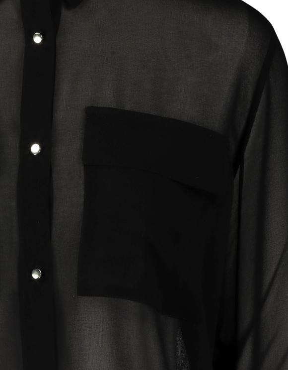 Chemise Noire Transparente