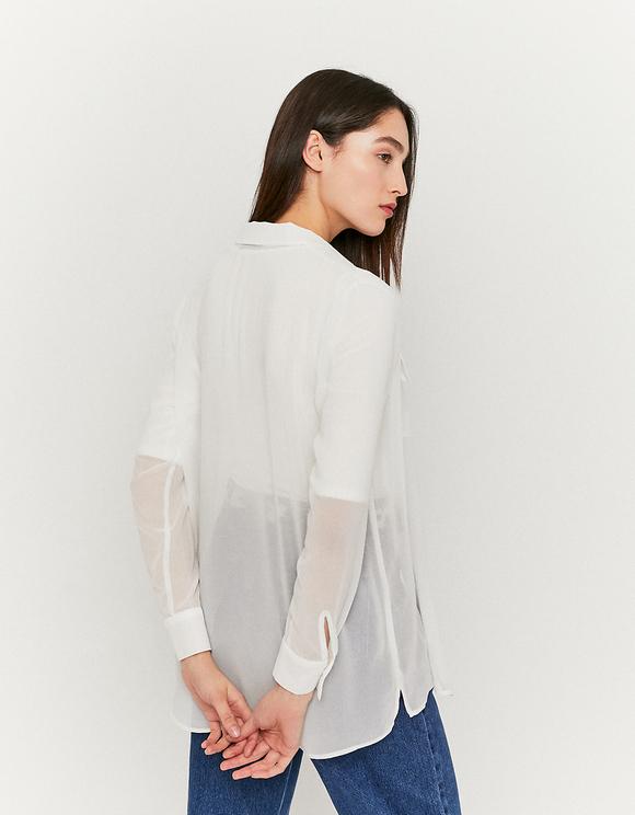 Camicia Bianca Trasparente