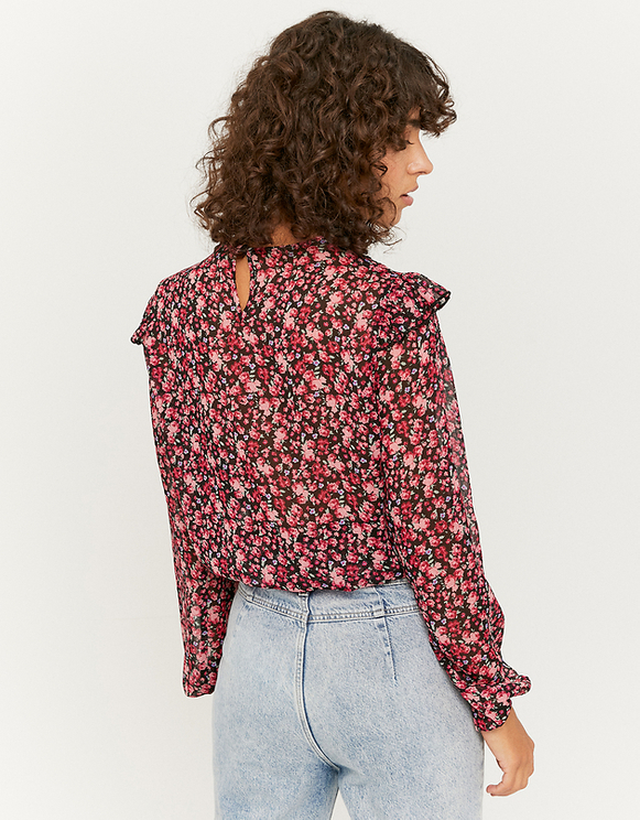 Transparente Bluse mit Aufdruck