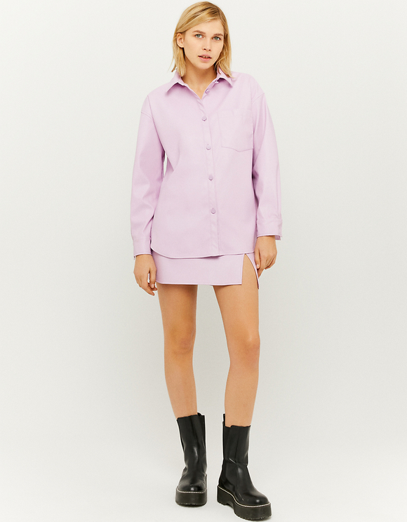 Camicia Rosa in Similpelle