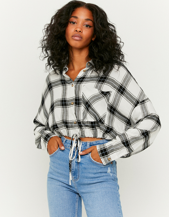 White Buttoned Down Check Shirt