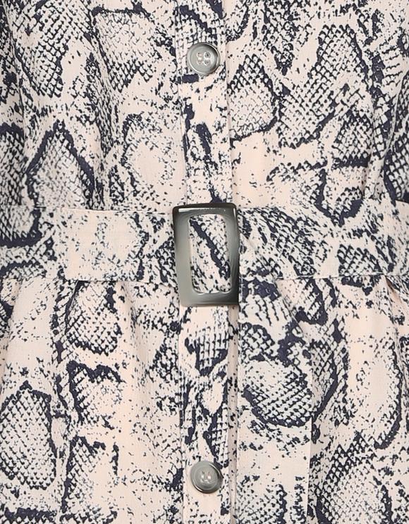 Schlangen Print Bluse mit Gürtel