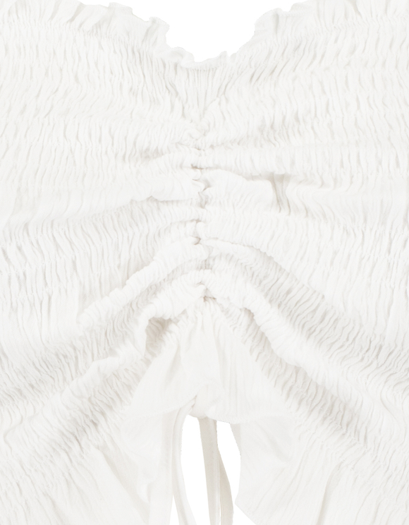 White Smocked Blouse
