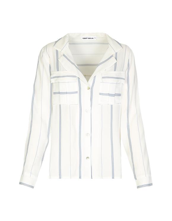 Weißes, gestreiftes Hemd