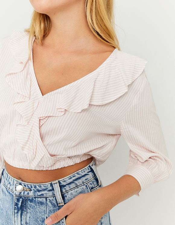 Pink Cropped Blouse