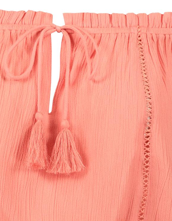 Pink Off Shoulder Blouse