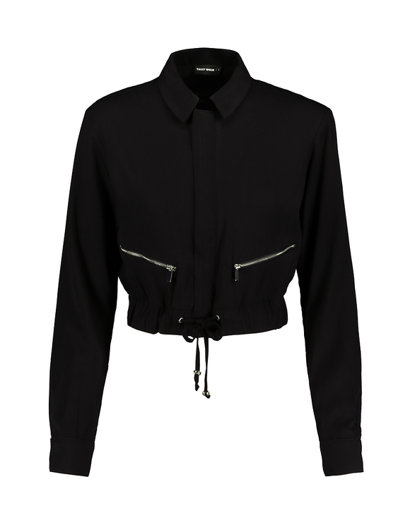 Black Zip Blouse