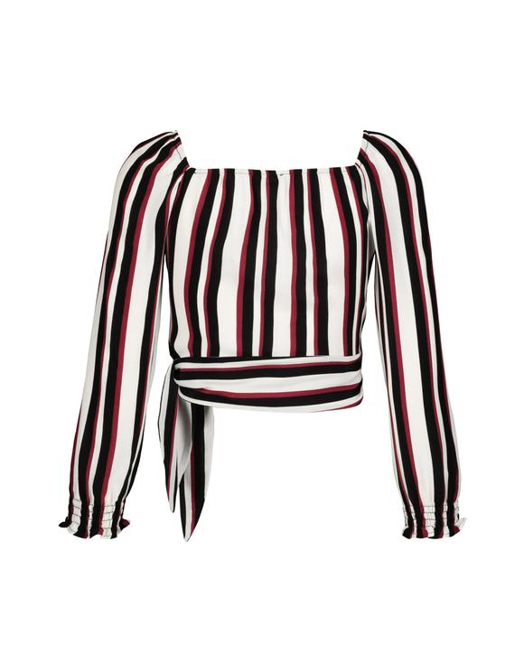 Gestreifte Kimono Bluse