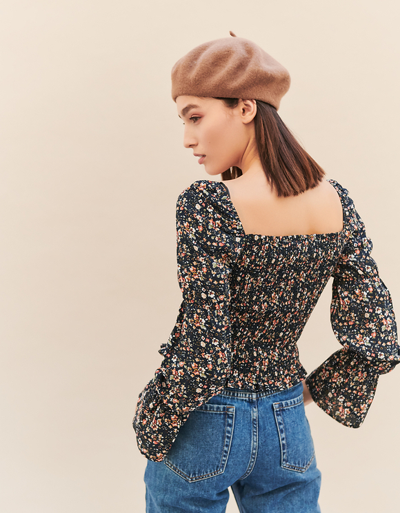 Floral Cropped Blouse