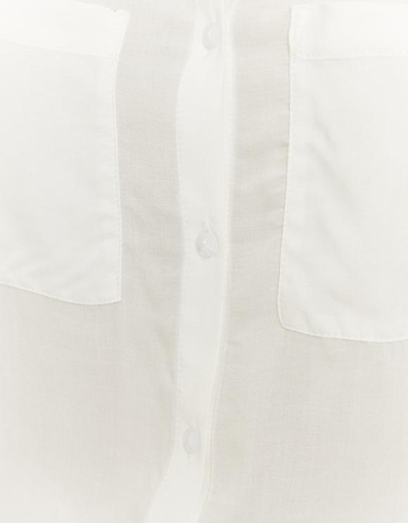 Weißes Button Down Basic Hemd