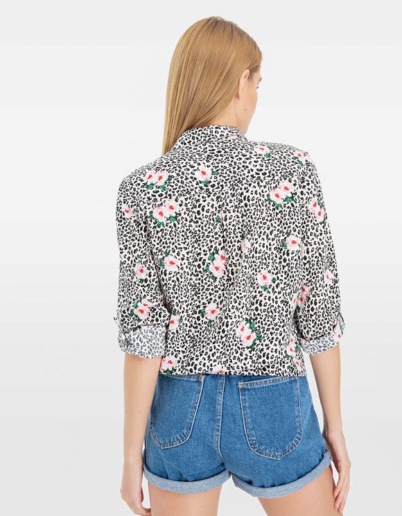 Floral & Leo Print Shirt