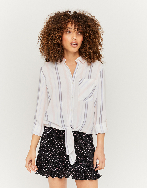 Striped Knotted Shirt
