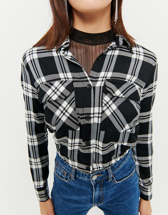 Check Cropped Shirt