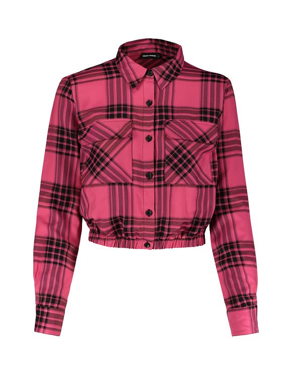 Check Cropped Shirt