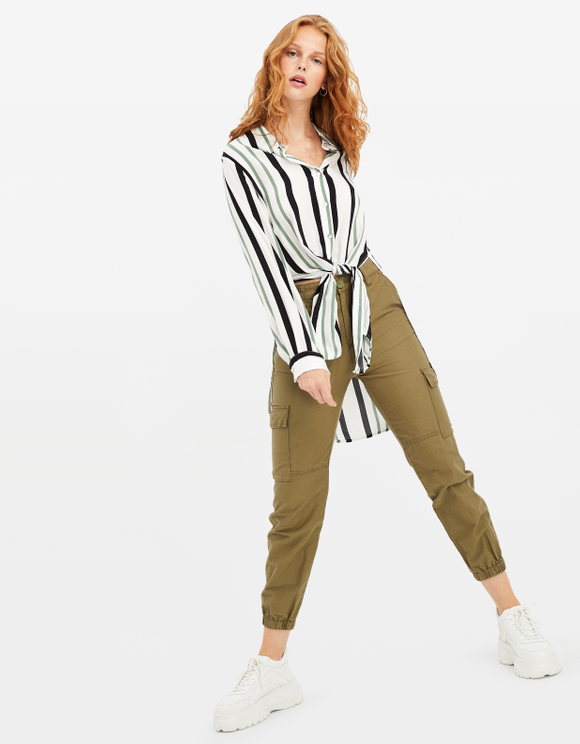 Striped Asymmetric Shirt