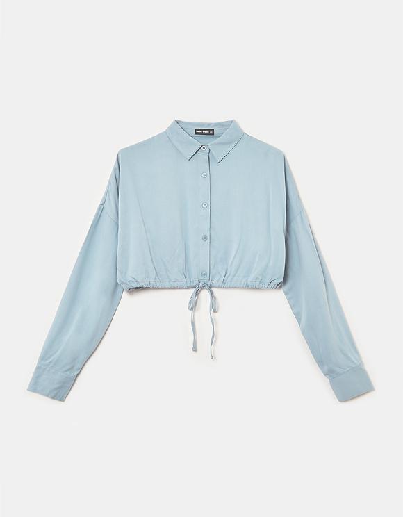 Blaue Button Down Bluse