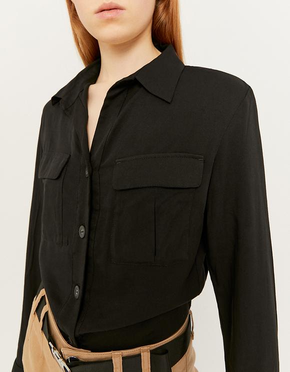 Schwarze, kurze Bluse