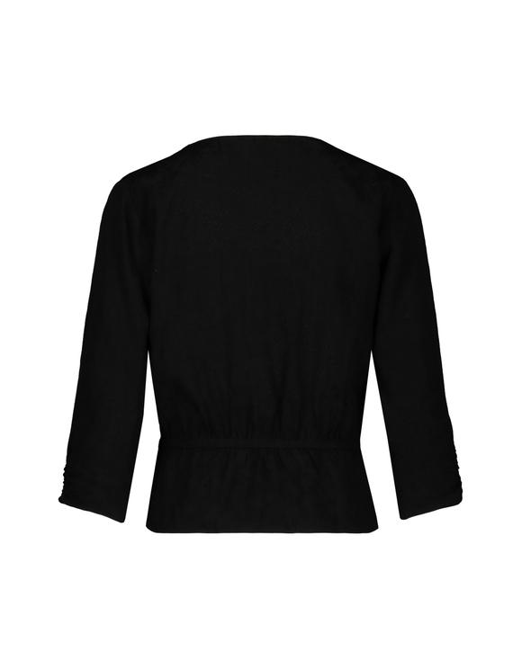 Schwarze Jacquard-Bluse