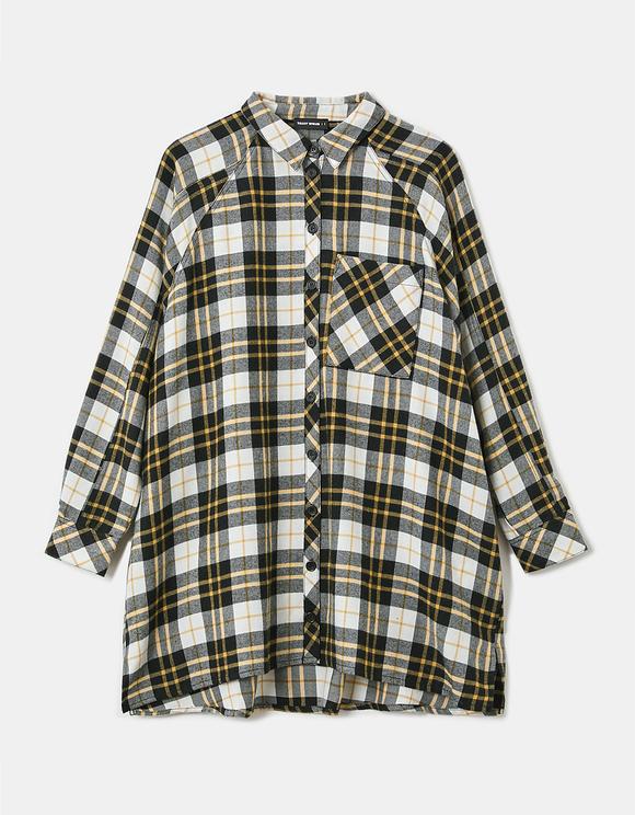 Check Oversize Shirt