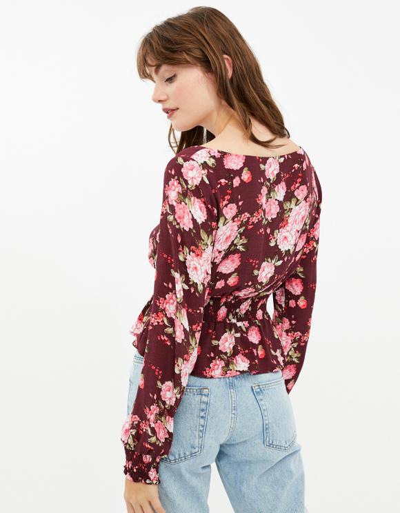 Bluse mit Blumen