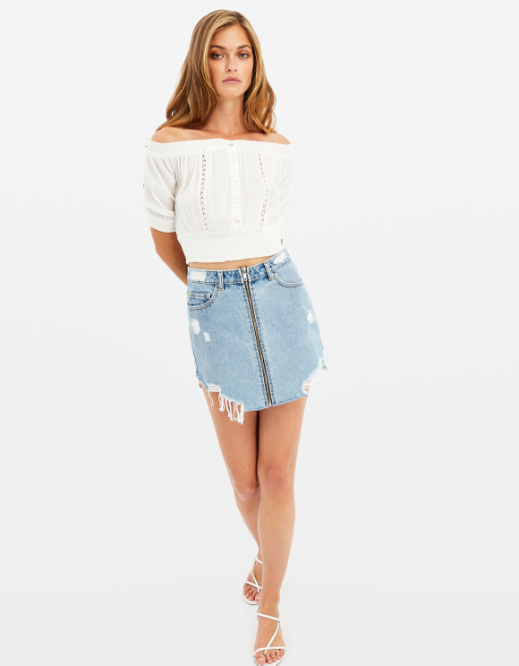Bardot Crop Top