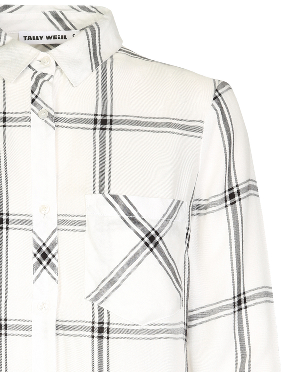 White Checked Shirt