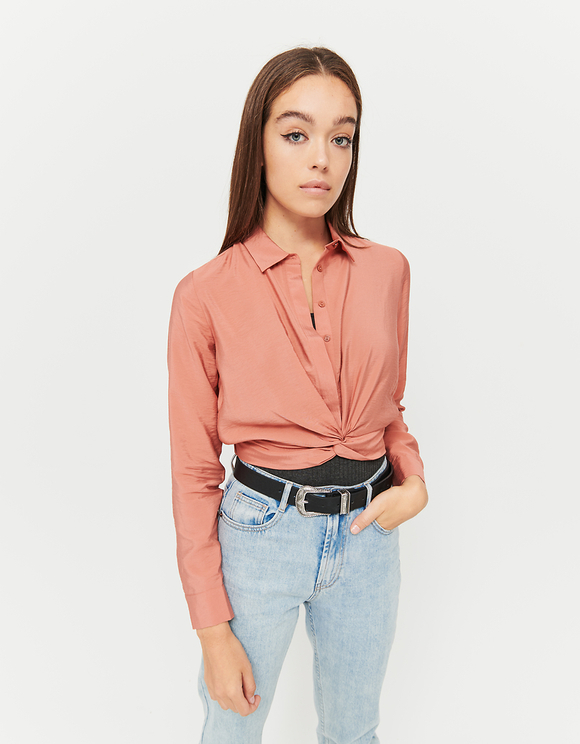 Pink Twisted Blouse
