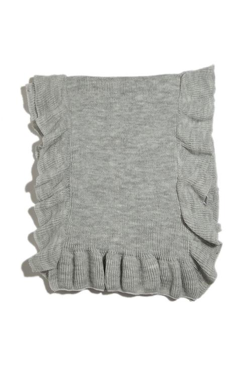 Grauer, leichter Schal