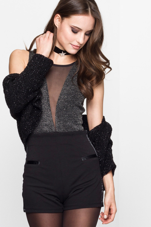 Black Sparkly Bodysuit