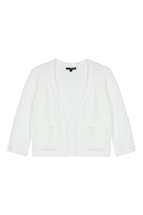 Weißer kurzer Cardigan