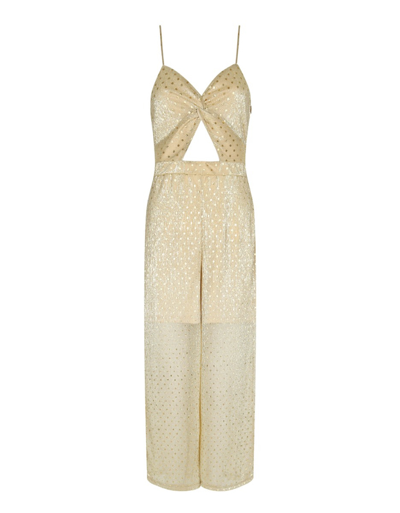 Golden Glitter Jumpsuit