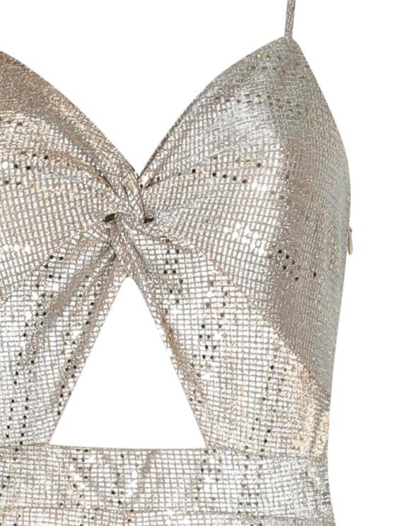 Silver Glitter Jumpsuit