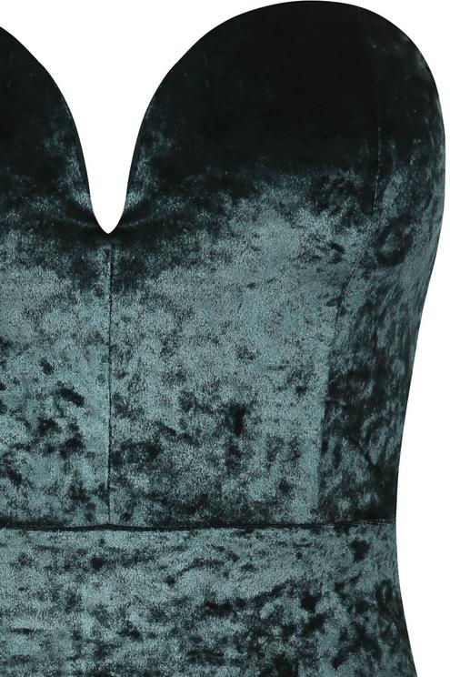 Velvet Plunging Bodycon Dress