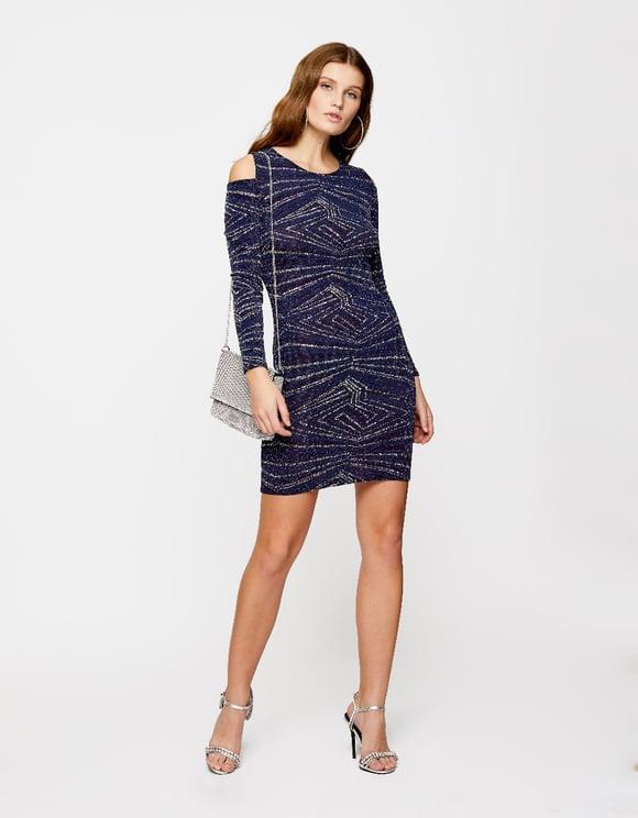 Blue Glitter Dress