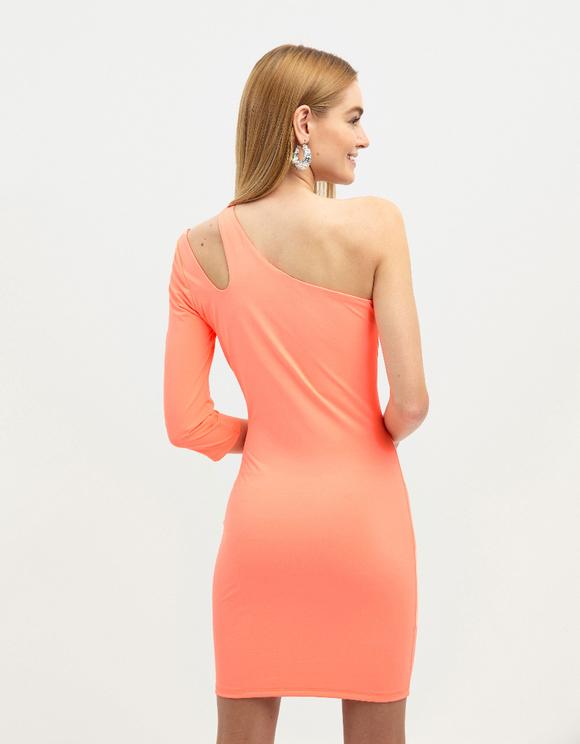Neon One Shoulder Dress