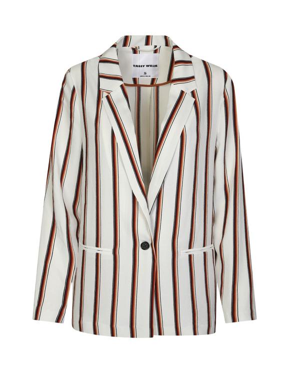 White Stripe Blazer