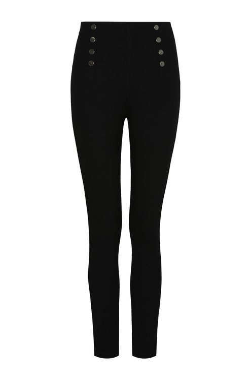 Black Leggings with Buttons