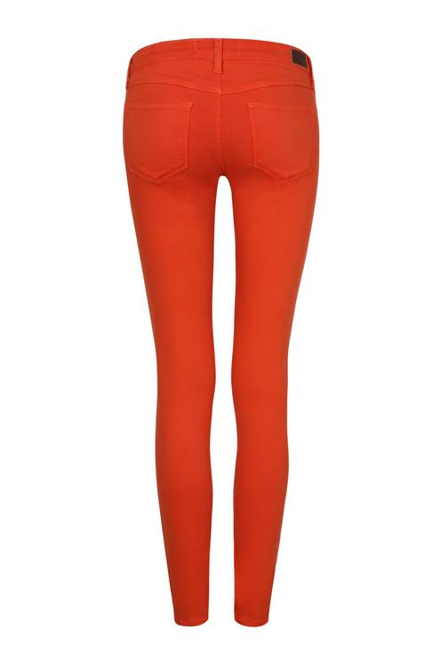 Low Waist Orange Skinny Jeans