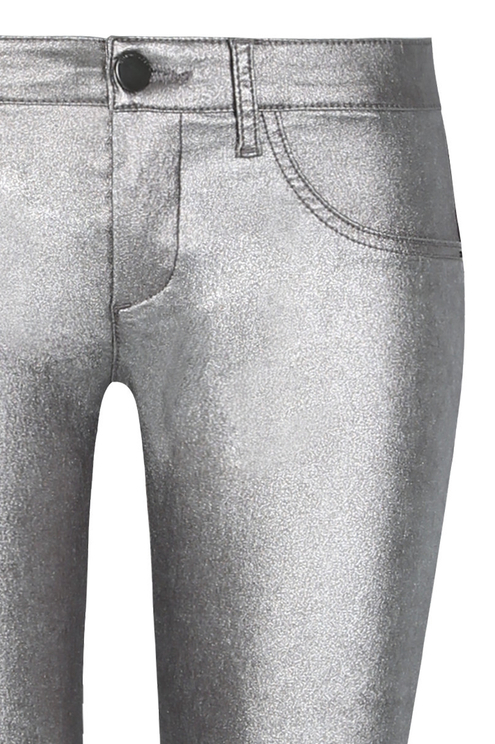 Silver Skinny  Push-Up Trousers