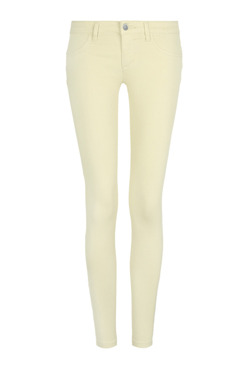 Yellow Low Waist Push-Up Trousers