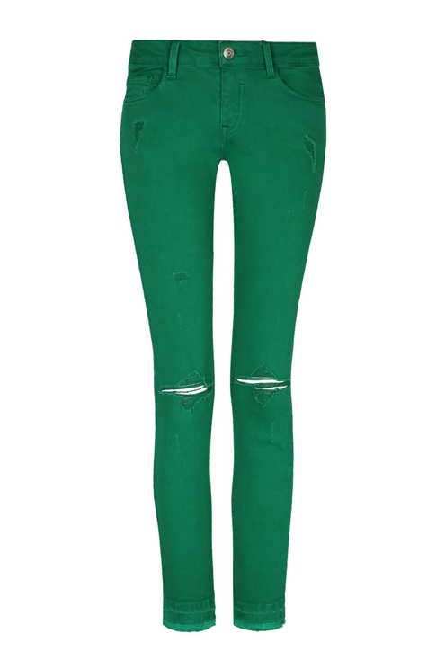 Green Destroyed Trousers