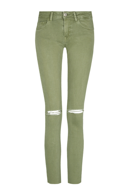 Khaki Ripped Trousers