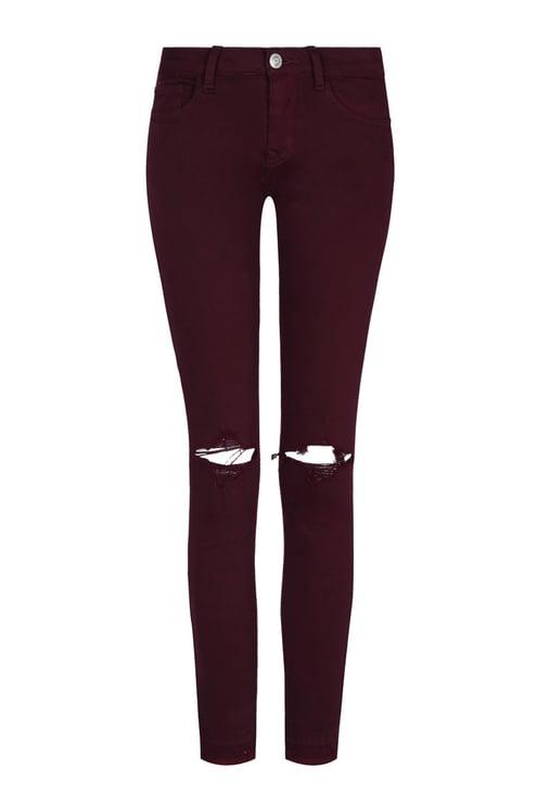 Pantalon Skinny Rouge
